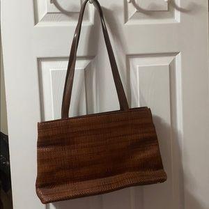 Cole Hana woven brown purse